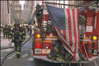 September 11 2001 Fire Truck Flag.jpg