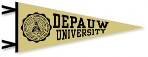 DePauw Pennant Black on Gold