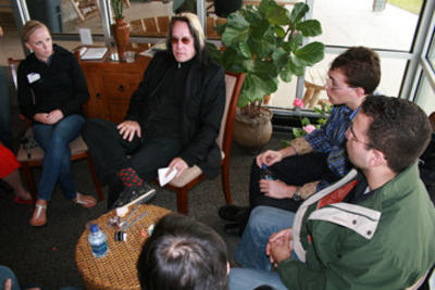 Rundgren with Students BG
