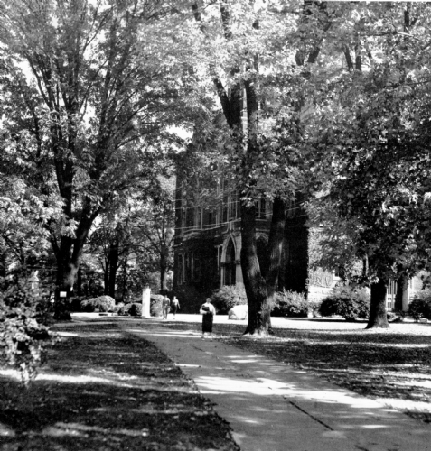 1957 east college bw